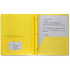 BSN 20884 Bus. Source 3-Hole Punched Poly Portfolios  BSN20884