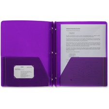 BSN 20885 Bus. Source 3-Hole Punched Poly Portfolios  BSN20885