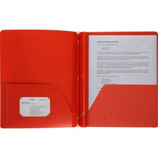 BSN 20887 Bus. Source 3-Hole Punched Poly Portfolios  BSN20887
