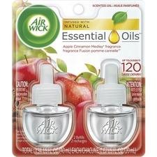 Air Wick Apple Scented Oil - Oil - 6.2 fl oz (0.2 quart) - Apple Cinnamon Medley - 45 Day - 2 / Pack