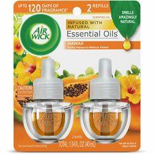 Air Wick Papaya Scented Oil - Oil - 0.7 fl oz (0 quart) - Hawaii Exotic Papaya, Hibiscus Flower - 45 Day - 2 / Pack