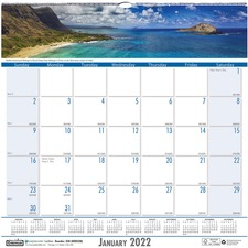 HOD 328 Doolittle Coastlines Monthly Wall Calendar HOD328