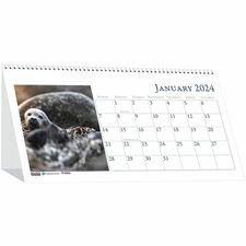 HOD 3689 Doolittle Wildlife Photo Desk Top Tent Calendars HOD3689