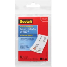 MMM LSR85110G 3M Scotch Business Card Laminating Pouches MMMLSR85110G