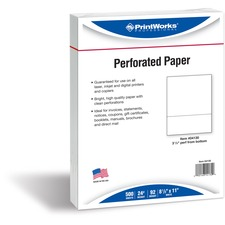 PRB 04130 Paris Bus. Prod. Horizontally Perforated Paper PRB04130