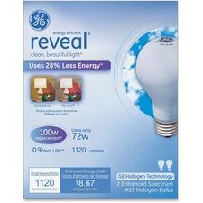 GEL 63009 GE Lighting Reveal 72W A19 Halogen Bulb GEL63009