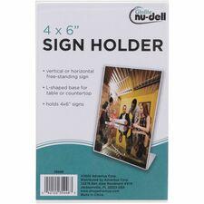NUD 35446 NuDell Clear Plastic Sign NUD35446