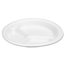 """8.88"""" 3 Compartment Foam Plate"""