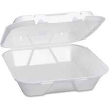 Large Snap It Foam Hinged Dinner Container