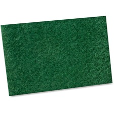 "Impact Products General Purpose Scouring Pad - 6"" Width x 9"" Length - 10/Bag - Green"