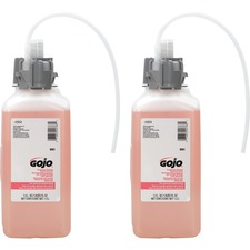 Gojo® Sanitary Sealed Counter Mount Soap Refills - Cranberry Scent - 50.7 fl oz (1500 mL) - Hand - Translucent Pink - 2 / Carton