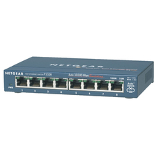 Netgear 8 Port Switch with 4 Port Power over Ethernet (PoE)