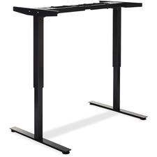 """Lorell Electric Height Adjustable Sit-Stand Desk Frame - 2 Legs - 46"""" Height x 27.50"""" Width x 44.25"""" Depth - Assembly Required - Black"""