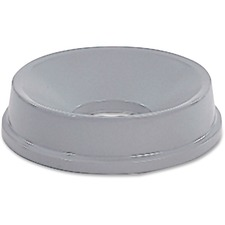 Rubbermaid Commercial Untouchable Round Funnel Top - Round - High-density Polyethylene (HDPE) - 1 Each - Gray