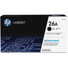 HP 26A (CF226A) Original Toner Cartridge - Single Pack - Laser - 3100 Pages - Black - 1 Each
