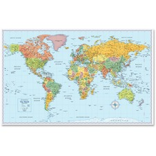 AVT RM528012754 Advantus Rand McNally World Wall Map AVTRM528012754