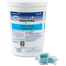 Diversey EasyPaks Bowl Cleaner - Concentrate Powder - 0.50 oz (0.03 lb) - Lavender Scent - 90 / Tub - 90 / Each - Blue