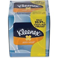 KCC 37303 Kimberly-Clark Kleenex Anti-viral Facial Tissue KCC37303