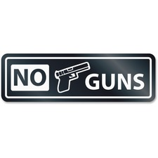 USS 9436 U.S. Stamp & Sign No Guns Window Sign USS9436