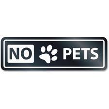 USS 9439 U.S. Stamp & Sign No Pets Window Sign USS9439