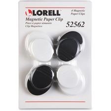 LLR 52562 Lorell Plastic Cap Magnetic Paper Clips LLR52562