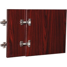 LLR 59572 Lorell Essentials Mahogany Wall Hutch Door Kit LLR59572