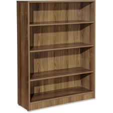 LLR 69974 Lorell Essentials Series Walnut Laminate Bookcase LLR69974
