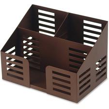 LLR 84253 Lorell Stamped Steel 3-Comprtmt Desktop Organizer LLR84253