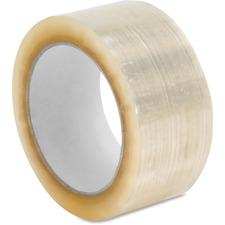 "Sparco 3.0mil Hot-melt Sealing Tape - 55 yd Length x 2"" Width - 3 mil Thickness - Long Lasting, Easy Unwind - 36 / Carton - Clear"