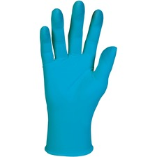 Kleenguard G10 Blue Nitrile Gloves X-Large - X-Large Size - Nitrile - Blue - Powder-free, Latex-free, Textured Fingertip, Ambidextrous, Beaded Cuff - For Food Handling - 90 / Box