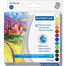 Staedtler WaterColor Crayons - Assorted - 12 / Set