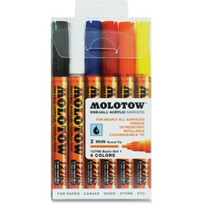 MLW 200230 Molotow One4All 2mm Acrylic Markers Basic Set MLW200230