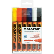 MLW 200453 Molotow One4All 4mm Acrylic Markers Basic Set MLW200453
