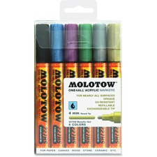 MLW 200198 Molotow One4All 4mm Acrylic Markers Metallic Set MLW200198