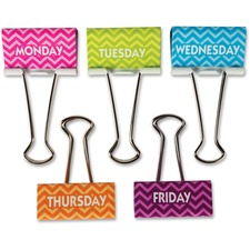 TCR 20668 Teacher Created Resources Chevron Large Binder Clips