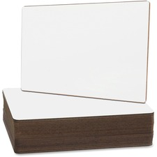 """Flipside Nipped Corners Plain Dry Erase Brd - 9"""" (0.8 ft) Width x 12"""" (1 ft) Height - White Surface - Rectangle - 24 / Pack"""