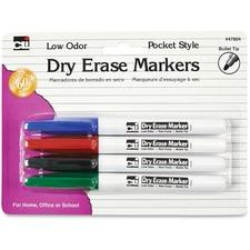 LEO 47804 Charles Leonard Low Odor Dry Erase Markers LEO47804