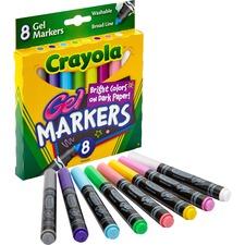 CYO 588163 Crayola Washable Broad Line Gel Markers CYO588163