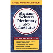 Merriam-Webster Dictionary/Thesaurus Printed Book - Book