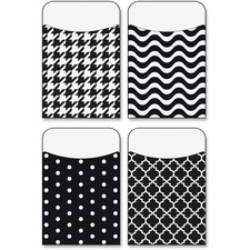 TEP 77901 Trend Black/White Terrific Pockets Variety Pack TEP77901