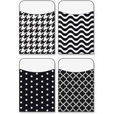 TEP 77901 Trend Black/White Terrific Pockets Variety Pack TEP77901