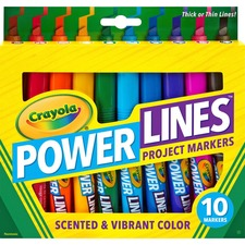 CYO 588194 Crayola Power Lines 10-color Project Markers CYO588194