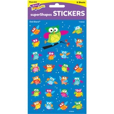 TEP 46322 Trend Colored Owl Super Shapes Stickers TEP46322