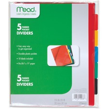 MEA 20038 Mead 5 Tabbed Pocket Dividers MEA20038