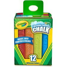 CYO 512012 Crayola Washable Sidewalk Chalk CYO512012
