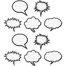 TCR 77203 Teacher Created Res. Speech Bubbles Magnet Accents TCR77203
