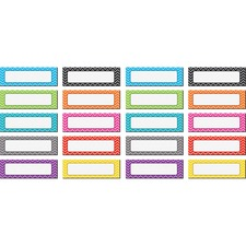 TCR 77204 Teacher Created Res. Chevron Labels Magnet Accents TCR77204