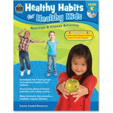 TCR 3987 Teacher Created Resources Gr K Healthy Habits Workbook Printed/Electronic Book