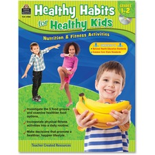 TCR 3988 Teacher Created Resources Grade 1-2 Healthy Habits WorkBook Printed/Electronic Book