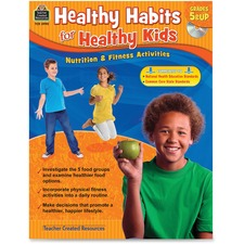 TCR 3990 Teacher Created Resources Grade 5up Healthy Habits WorkBook Printed/Electronic Book